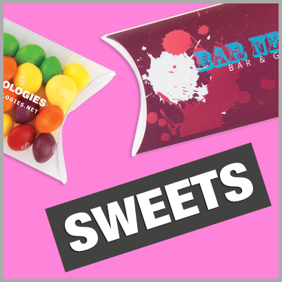 Sweets personalised with print